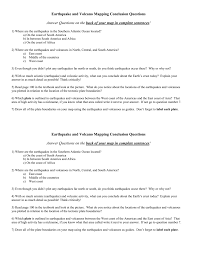 volcanoes and plate tectonics worksheet answers worksheets for