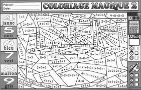 Coloriage magique  Tonenump