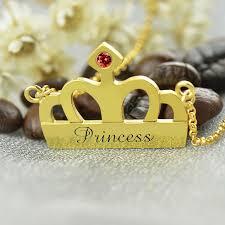 Stamped Name Necklace Aliexpress Com Buy Handstamped Princess Name Necklace Gold Color