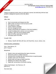 Best Receptionist Resumes by Sample Resume Receptionist Template Examples