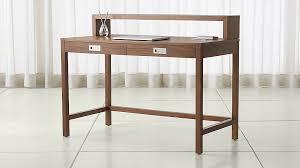 aspect walnut modular desk with hutch crate and barrel