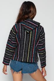 Mexican Rug Sweater Drug Rug Hoodie Jacket Grey Rainbow Mexican Sweatshirt Boho