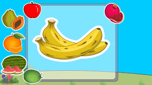 basic fruits names with pictures for nursery kids u0026 children youtube