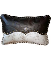 Leather Pillows For Sofa by Bedroom Metallic Cowhide Pillows With Cozy Sofa For Living Room