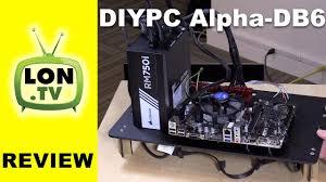 diypc alpha db6 black acrylic atx bench case test bench review