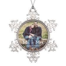 mr and mrs ornaments keepsake ornaments zazzle