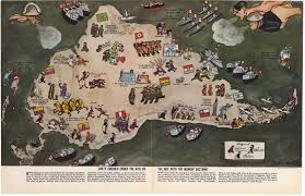 Maps Of South America Wwii Propaganda Map Of South America By John Groth 1938 Hjbmaps