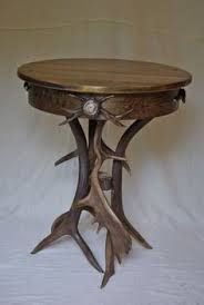 Antler Table L Www Lpostrustics Adirondack Rustic Accent Table With Antlers