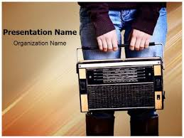 vintage radio music powerpoint template is one of the best