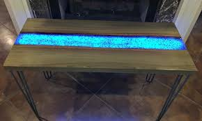live edge river table epoxy this live edge river table glows in the dark adding life to your
