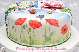 the cakes the cake makery painting on cake