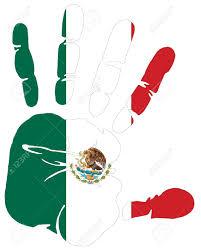 Mexican American Flag America Flag Hand Prints Clipart