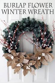 burlap flower wreath the country chic cottage