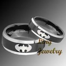 his and hers ring set wedding rings batman wedding ring set dramatic batman wedding