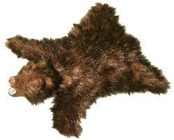 Taxidermy Bear Rug Brown Bear Skin Rug Bear Skin Rug With Taxidermy Bear Head Faux