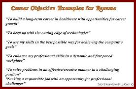 Sample Job Objectives For Resumes by 16 Career Objective Examples For Insurance Company Sendletters Info
