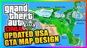 Uvu Map Updated Gta Series Usa Concept Map Featuring Las Venturas Liberty