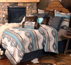 southwestern bedding at it u0027s finest is shown in our dakota blue