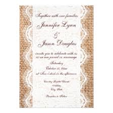 lace invitations burlap and lace wedding invitations rustic country wedding