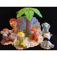 safari cake toppers baby animals jungle animals cake toppers jungle party