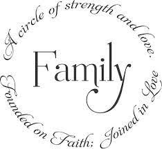 our family circle wall decal strength cricut and scrapbooking