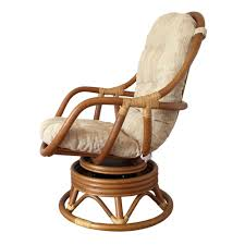 Swivel Rocker Chair Swivel Rocking Chair Erick Color Light Brown With Cushion