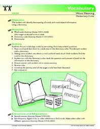 dictionary and thesaurus lesson plans u0026 worksheets