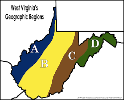 Virginia Rivers Map by Lesson Images