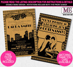 gatsby invitations 1920s party invitation gatsby invitation metro events party