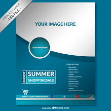 product brochure design psd free download blue company poster psd