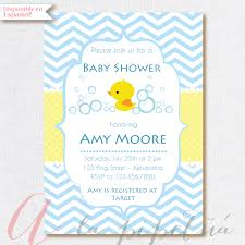 Shrimant Invitation Card Baby Shower Invitation Baby Boy Rubber Ducky Babyshower