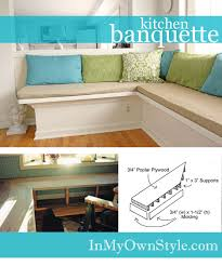 Making A Kitchen Cabinet How To Make A Banquette For Your Kitchen In My Own Style