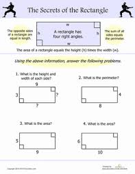 area and perimeter of a rectangle worksheet education com