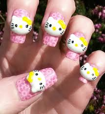 3d hello kitty nail art gallery nail art designs