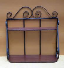 etagere in ferro mensola scaffale 礬tagere in ferro battuto e legno per cucina