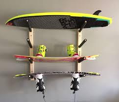 planche de bouleau pro board étagère murale pour planche de surf wakeboard
