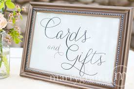 wedding gift table cards and gifts table sign wedding table reception seating