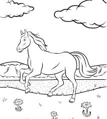 free horse coloring