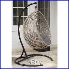 Patio Egg Chair Hanging Egg Chair With Stand Wicker Swinging Indoor Outdoor Swing