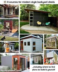 Backyard Sheds Designs by 8x12 Modern Shed Plans Modern Diy Office U0026 Studio Shed Designs