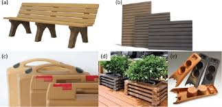commercial products made from wood plastic composites pp pe and
