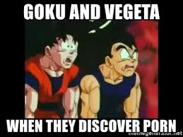 Memes Porno - goku and vegeta when they discover porn dragon ball z 1 meme