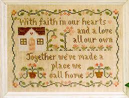 Country Cottage Cross Stitch Moira Blackburn Samplers Country Cottage Sampler Cross Stitch