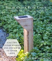 diy solar flood light build a solar cedar path light build basic