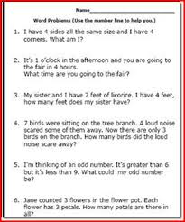 addition word problems worksheets for 1st grade first grade word