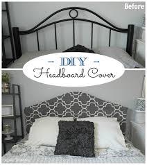 remodelaholic easy no sew headboard slipcover tutorial