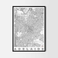 Home Decor Adelaide Adelaide Gift Map Art Prints And Posters Home Decor Gifts