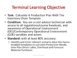 calculate a production plan with the inventory chain template
