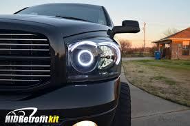 dodge ram headlight 2002 2005 dodge ram matte black custom headlights bi xenon hid
