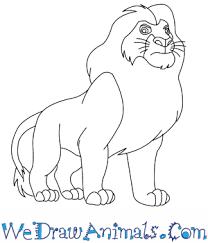 draw mufasa lion king